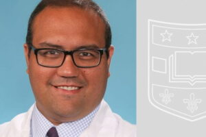 Headshot of Jose Zevallos, MD with banner