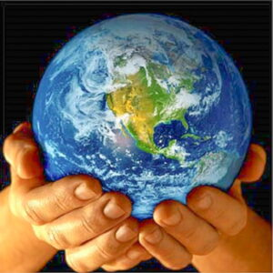 Make a Gift tile earth in hands