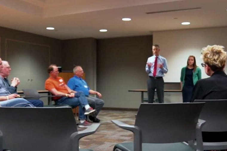 cancer survivors group meeting