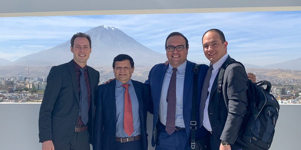 Drs. Zevallos and Pipkorn with Peru delegation