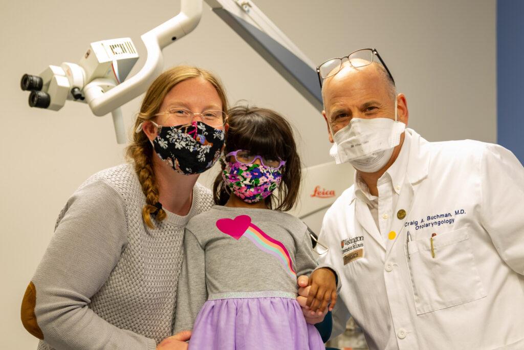 Jena and Anusha Oberg with Dr. Buchman
