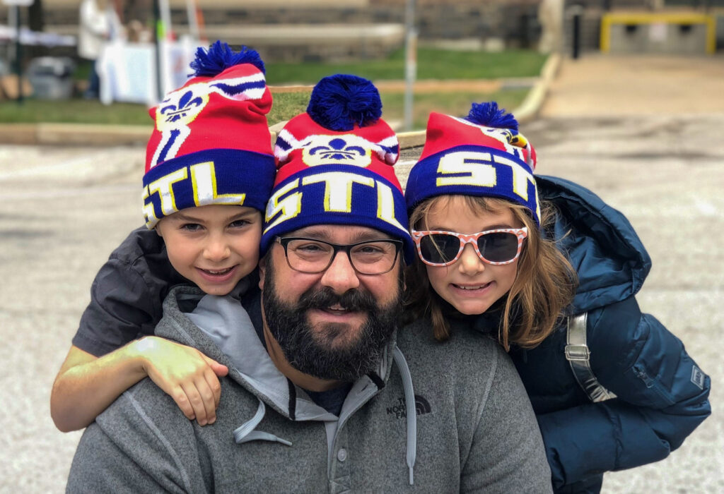 photo of Dr. Schneider with kids