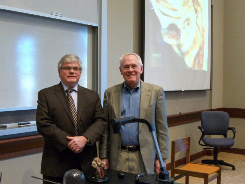 Photo of Jim Seeser with Bill Clark